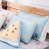 【生活工場】西瓜甜涼感枕頭墊2入組-藍