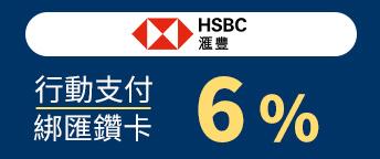 匯豐銀行匯鑽卡6%