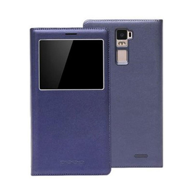 OPPO R7 Plus原廠皮套 藍