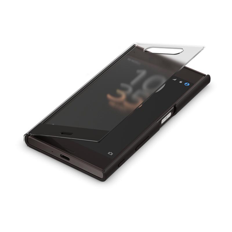 SONY Xperia XZ智慧視窗時尚保護套 曜岩黑