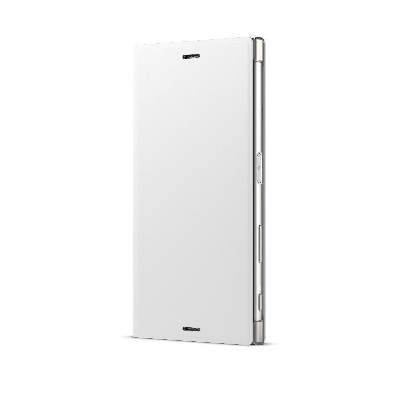 SONY Xperia XZs側翻式時尚保護套 暖霧銀(SCSG20)