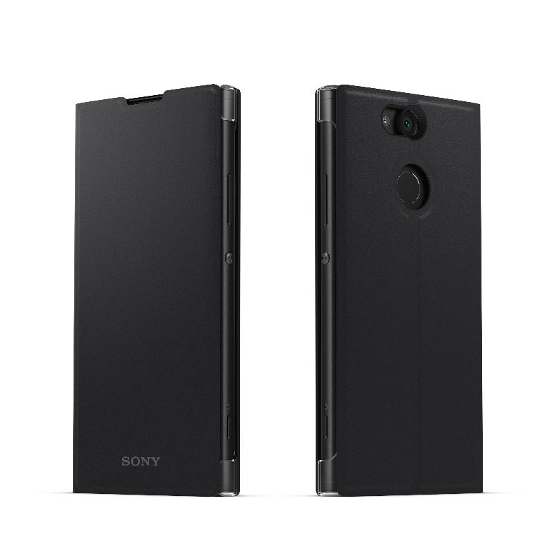 SONY Xperia XA2 側翻式時尚保護套 酷夜黑(SCSH10)