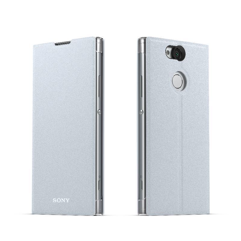 Xperia XA2 側翻式時尚保護套 耀夜銀(SCSH10)