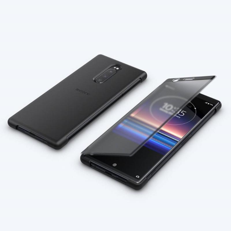 【Xpreia 1實用配件組】 觸控式時尚保護殼 SCTI30 黑 + 高速傳輸線 + 128GB SD卡