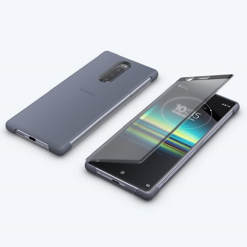 【Xpreia 1實用配件組】 觸控式時尚保護殼 SCTI30 灰 + 高速傳輸線 + 128GB SD卡