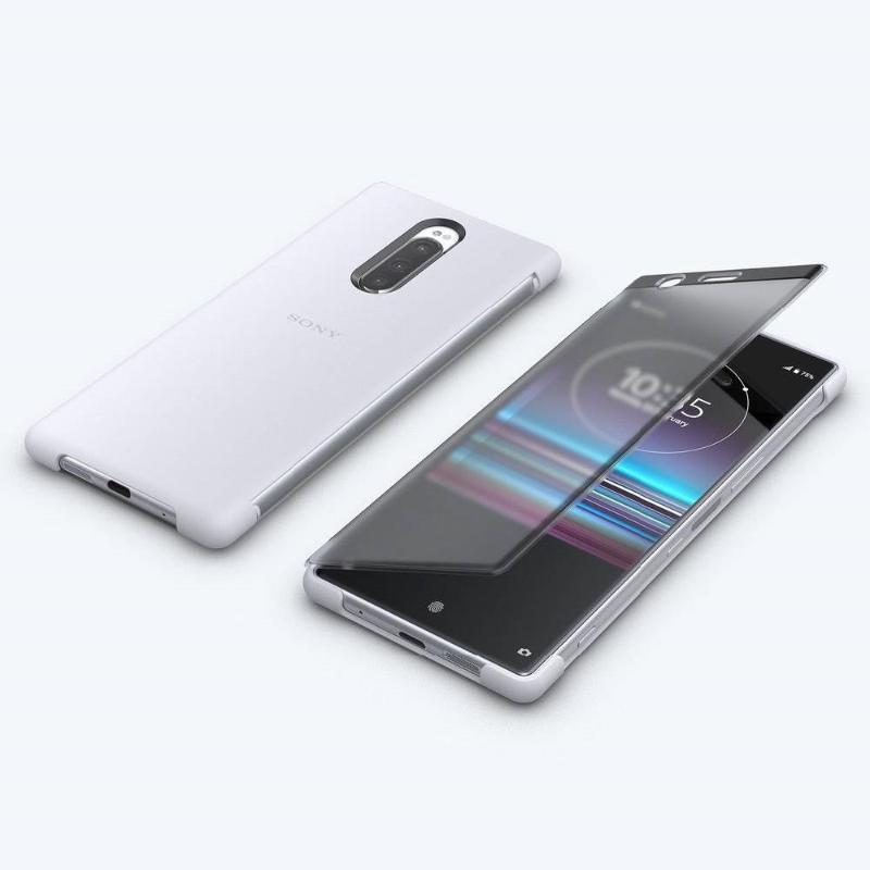 【Xpreia 1實用配件組】 觸控式時尚保護殼 SCTI30 白 + 高速傳輸線 + 128GB SD卡