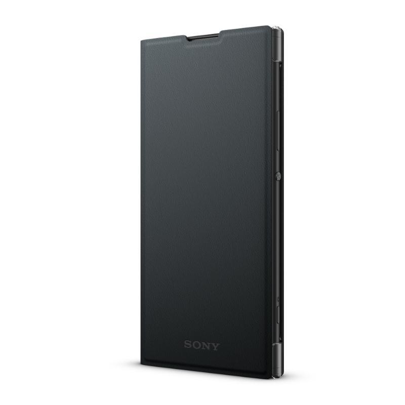 Xperia XA2 plus 側翻式皮套 黑(SCSH60)