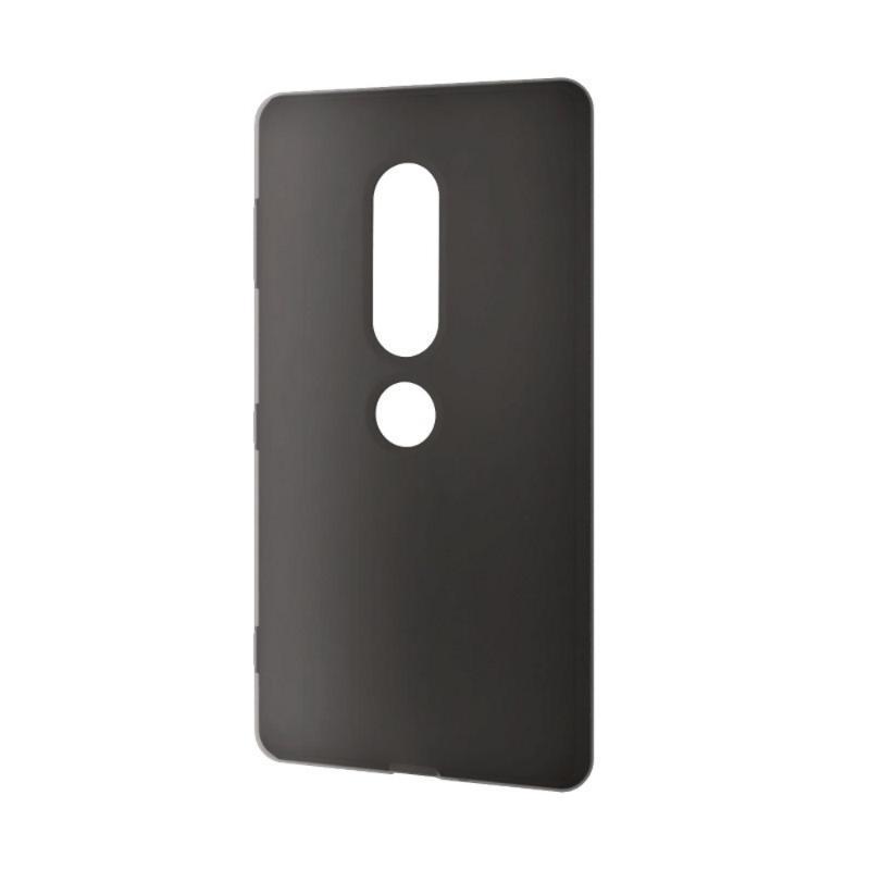 ELECOM Xperia XZ2 Premium 矽膠殼套 黑
