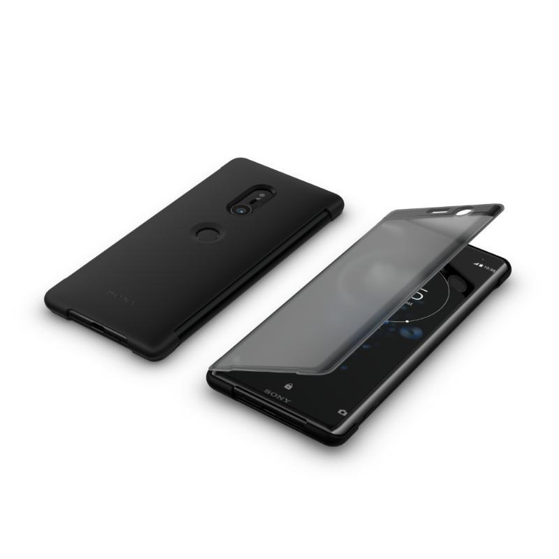 SONY Xperia XZ3 觸控式時尚皮套 黑 (SCTH70)