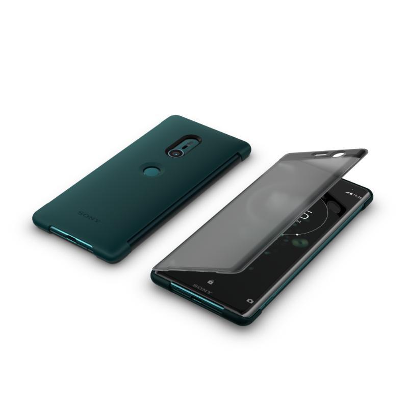 SONY Xperia XZ3 觸控式時尚皮套 綠 (SCTH70)