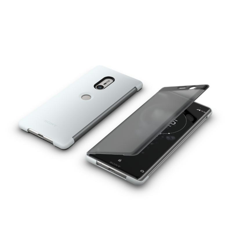 SONY Xperia XZ3 觸控式時尚皮套 灰 (SCTH70)
