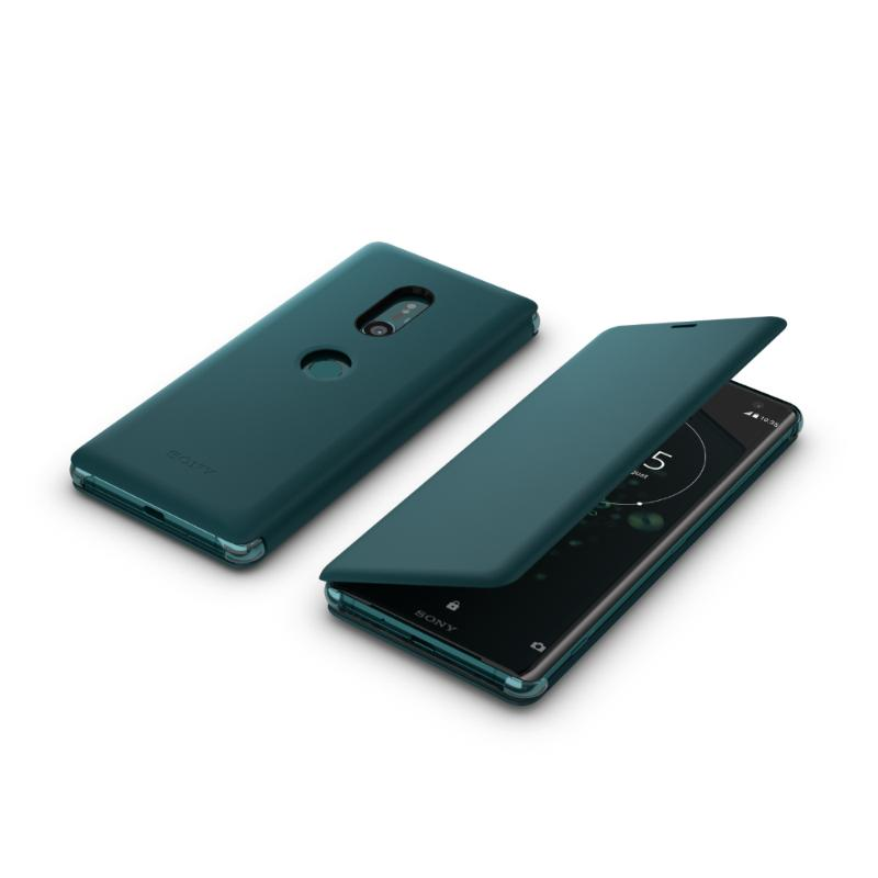 SONY Xperia XZ3 可立式時尚皮套 綠 (SCSH70)