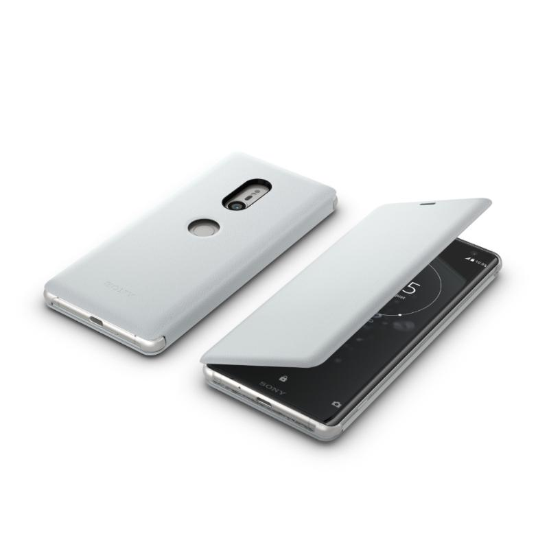 SONY Xperia XZ3 可立式時尚皮套 灰 (SCSH70)