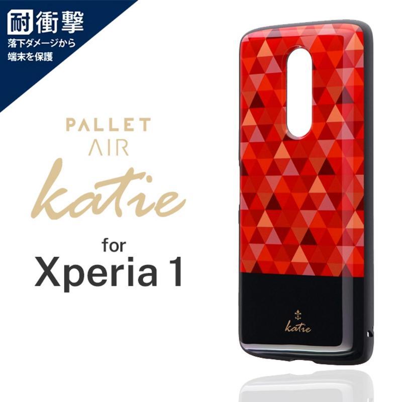 LEPLUS Xperia 1 PALLET AIR Katie G 輕量耐衝擊殼-馬賽克紅