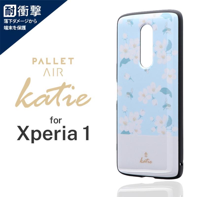 LEPLUS Xperia 1 PALLET AIR Katie A 輕量耐衝擊殼-彩繪白花