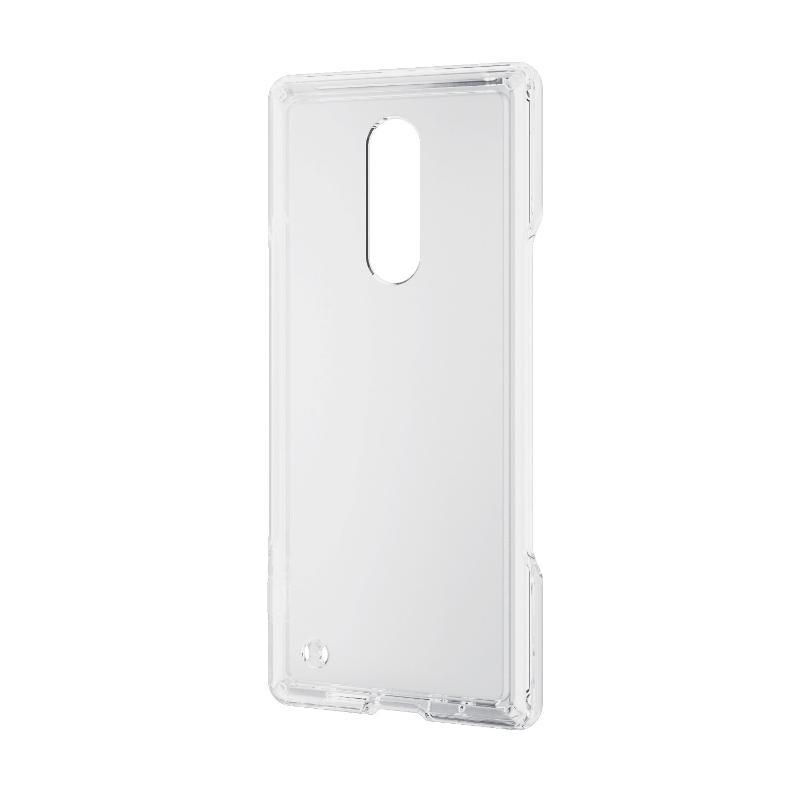 ELECOM Xperia 1/雙材質殼套/透明