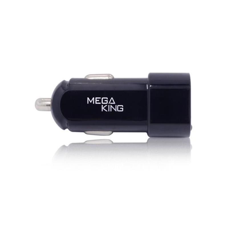 MEGA KING 雙輸出車充頭 黑 (3.4A USB)