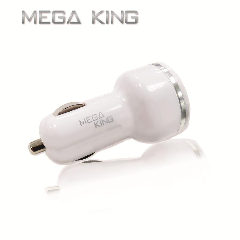 MEGA KING 雙輸出車充頭 (3.4A USBA+TypeC)