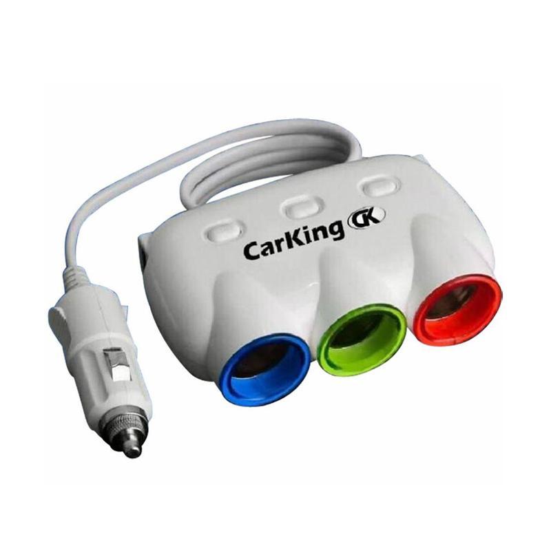 CarKing 車用三孔+兩孔USB充電點煙器 CK-3200