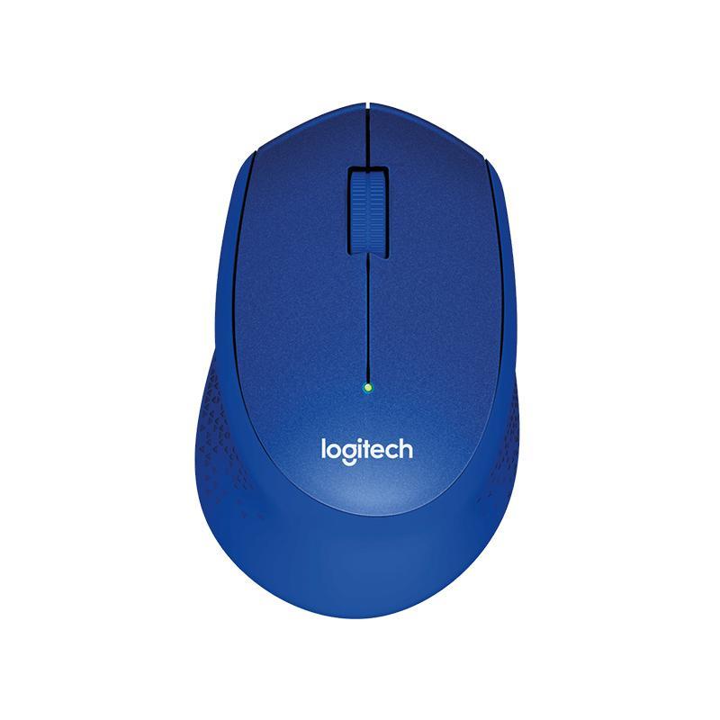 Logitech M331 靜音無線滑鼠-藍