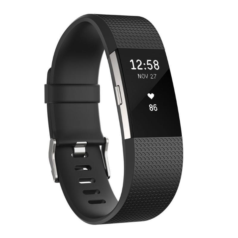 Fitbit Charge 2 無線心率監測專業運動手環 典雅黑 大碼