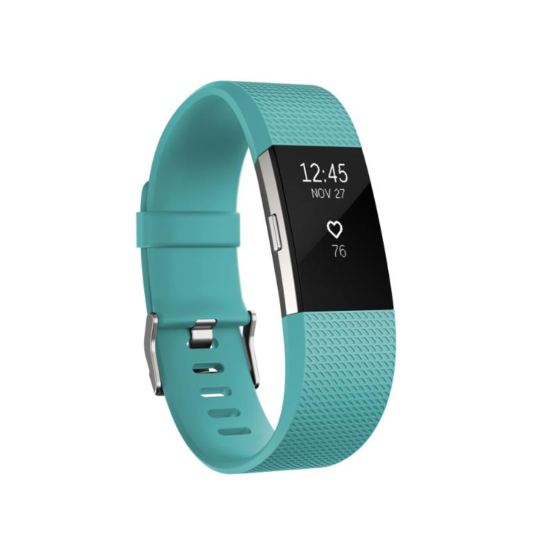Fitbit Charge 2 無線心率監測專業運動手環 湖水綠 大碼