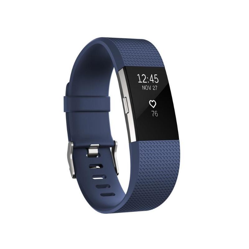 Fitbit Charge 2 無線心率監測專業運動手環 皇家藍 大碼