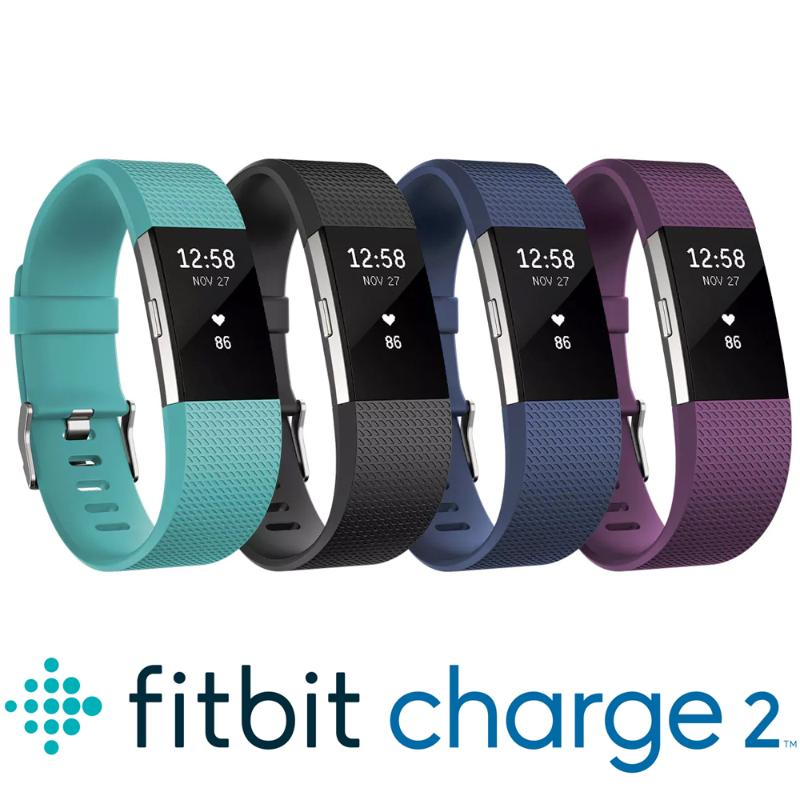 Fitbit Charge 2 無線心率監測專業運動手環 典雅黑 小碼