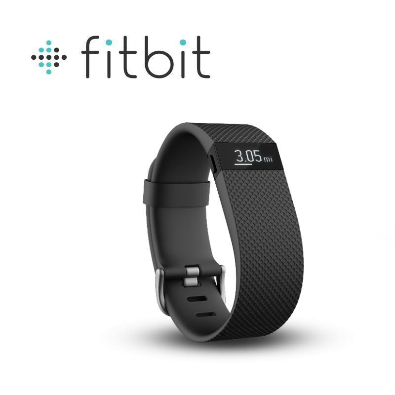 Fitbit Charge HR 無線心率監測專業運動手環 黑色 大碼