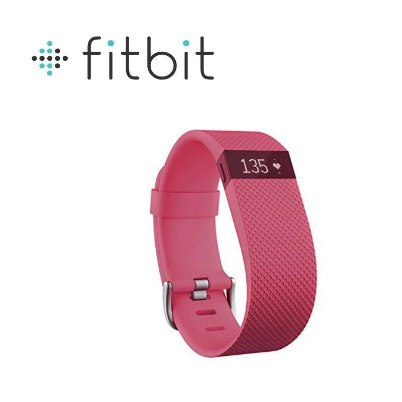 Fitbit Charge HR 無線心率監測專業運動手環 粉紅色 大碼