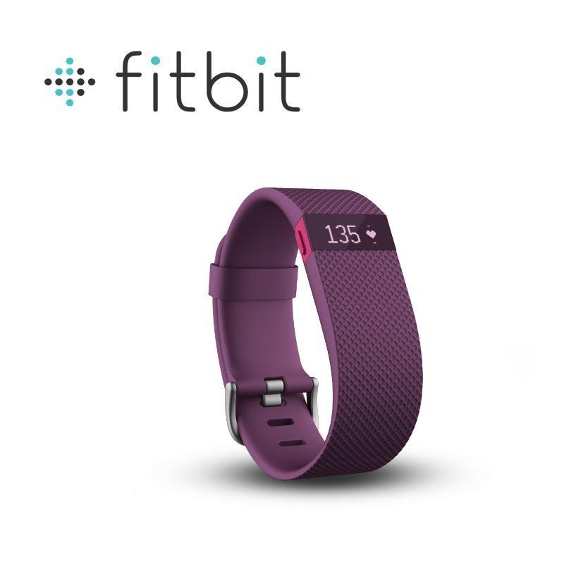 Fitbit Charge HR 無線心率監測專業運動手環 紫紅色 大碼