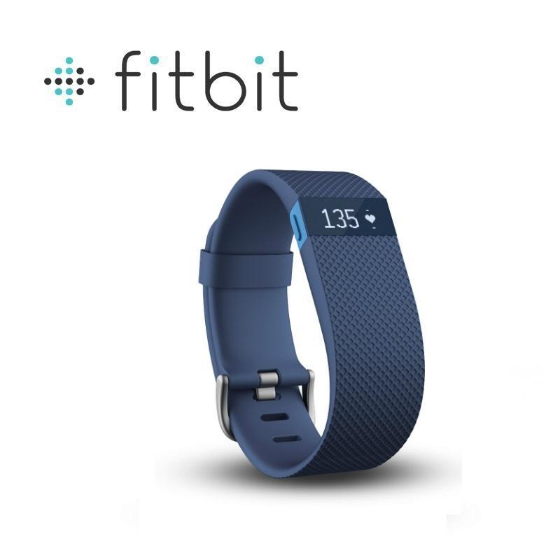 Fitbit Charge HR 無線心率監測專業運動手環 藍色 小碼
