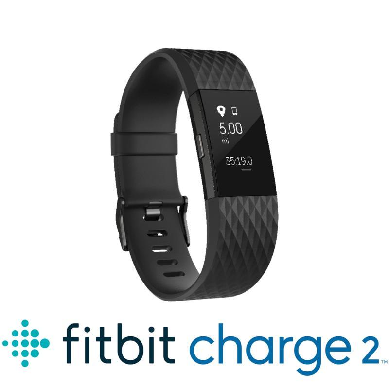 藍芽手錶 Fitbit Charge2 消光黑大