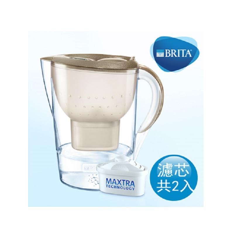 BRITA Marella XL 馬利拉星燦金色+ MAXTRA P1 (共2芯)【限量5台】