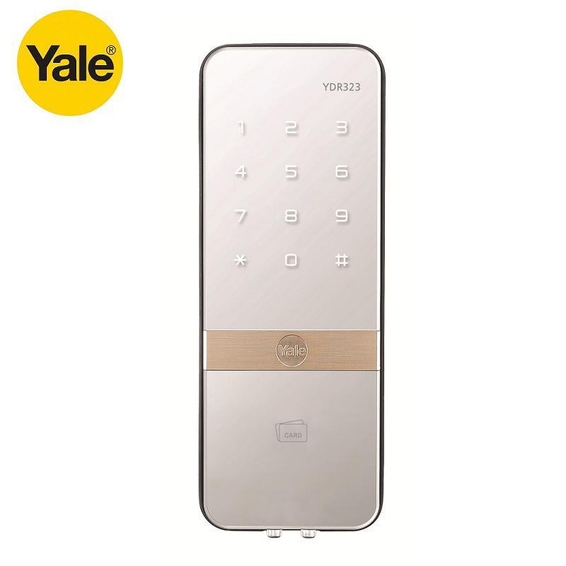 Yale 耶魯 YDR323 鏡面卡片密碼電子鎖