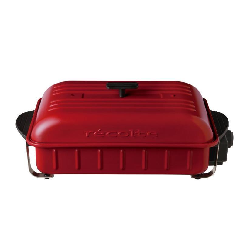 日本Recolte HOME BBQ RBQ-1電燒烤盤 紅