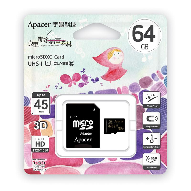 Apacer MicroSD 64GB UHS-I Class10 記憶卡 (克里斯多版) (附SD轉卡)