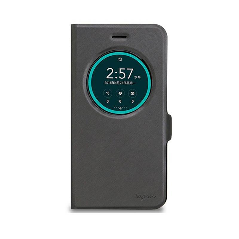 ASUS ZenFone3 (ZE552KL) bagrun視窗側掀皮套 星爍黑