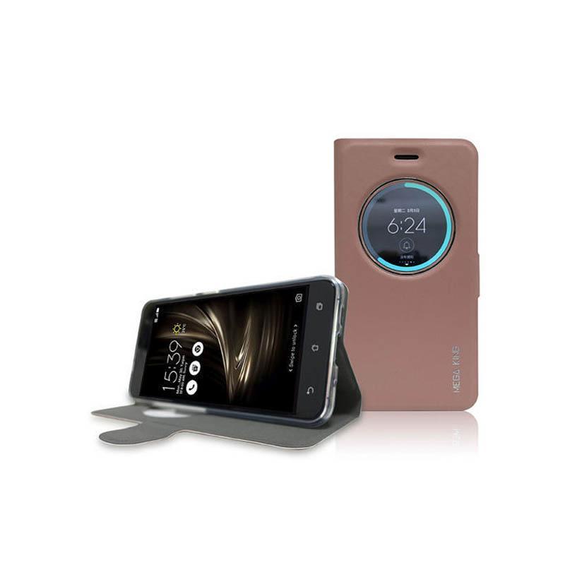 ASUS ZenFone3 (ZE520KL) MEGA KING 視窗式側掀皮套 玫瑰金
