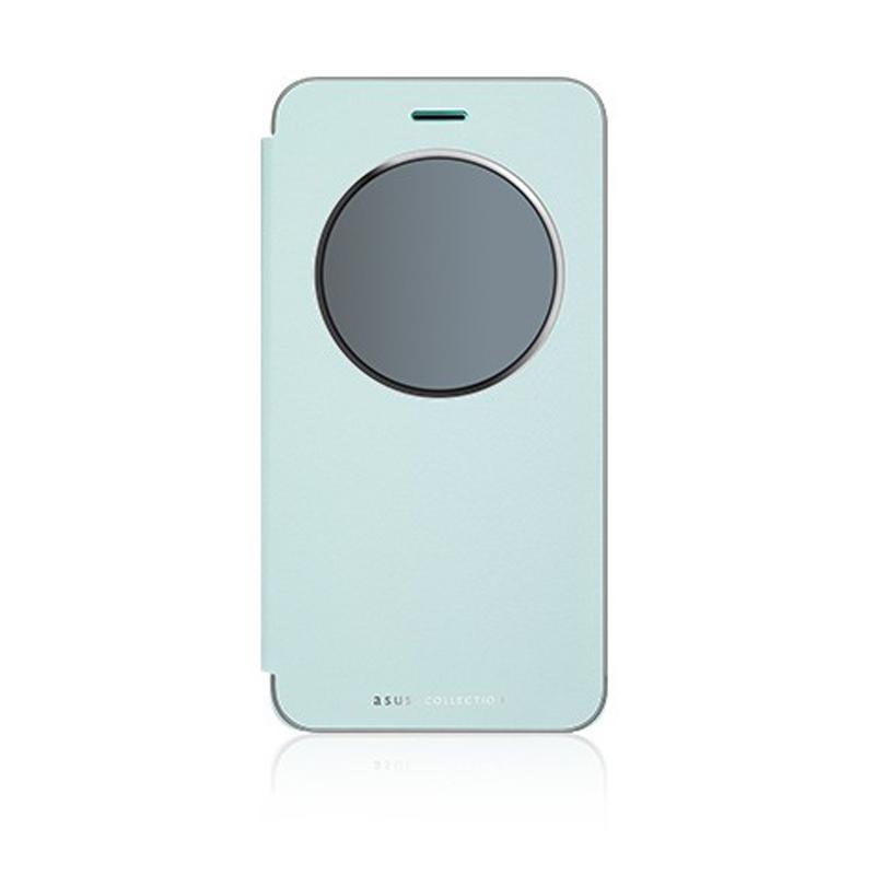 ASUS ZenFone 3 ZE520KL 智慧型透視皮套 藍