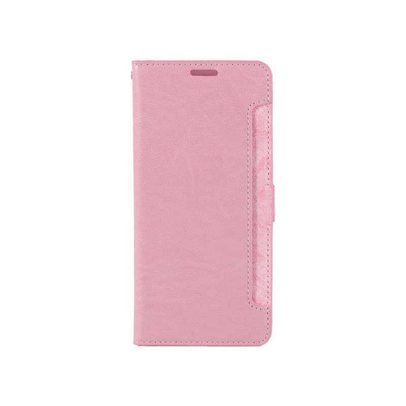 CASE SHOP HTC U12+ 專用前收納式側掀皮套-粉