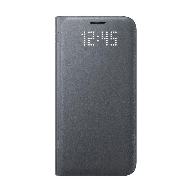 Samsung Galaxy S7 LED皮革翻頁式皮套 黑色