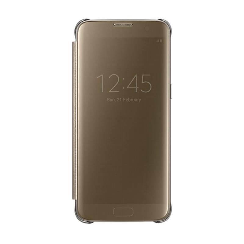 Samsung Galaxy S7 Edge全透視感應皮套 金色