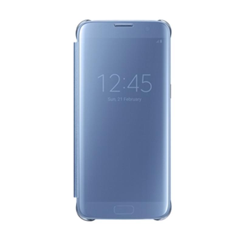 Samsung Galaxy S7 Edge 全透視感應皮套 藍色