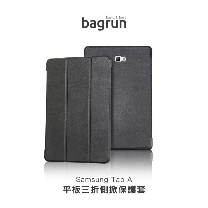 bagrun  SAMSUNG  Galaxy Tab A (10.1吋) 三折皮套 黑