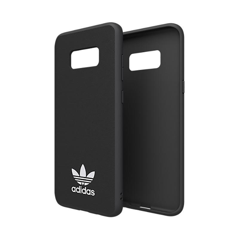 adidas經典SAMSUNG Galaxy S8+ TPU超薄貼皮背蓋-黑色
