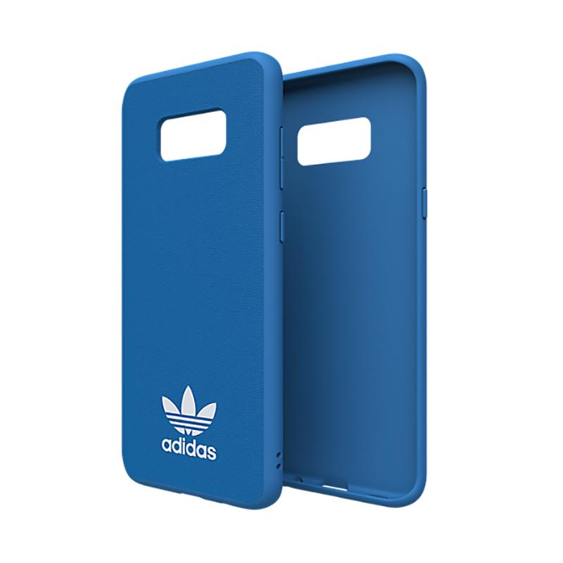 adidas經典SAMSUNG Galaxy S8+TPU超薄貼皮背蓋-藍色