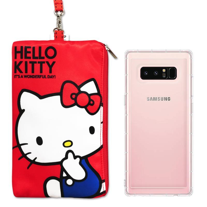 SAMSUNG Galaxy Note 8 空壓殼+Hellokitty防水包