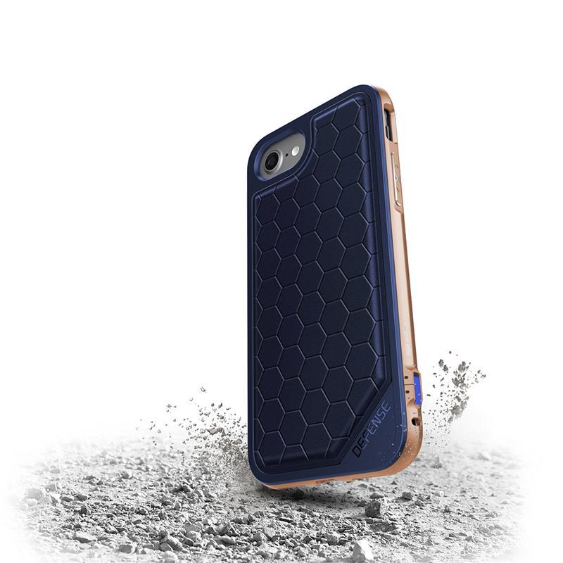 iPhone 7 X-doria奢華刀鋒系列保護殼 深藍蜂窩