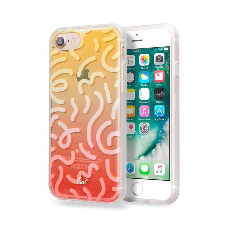 LAUT 漸層波浪系列保護殼 iPhone7 黃